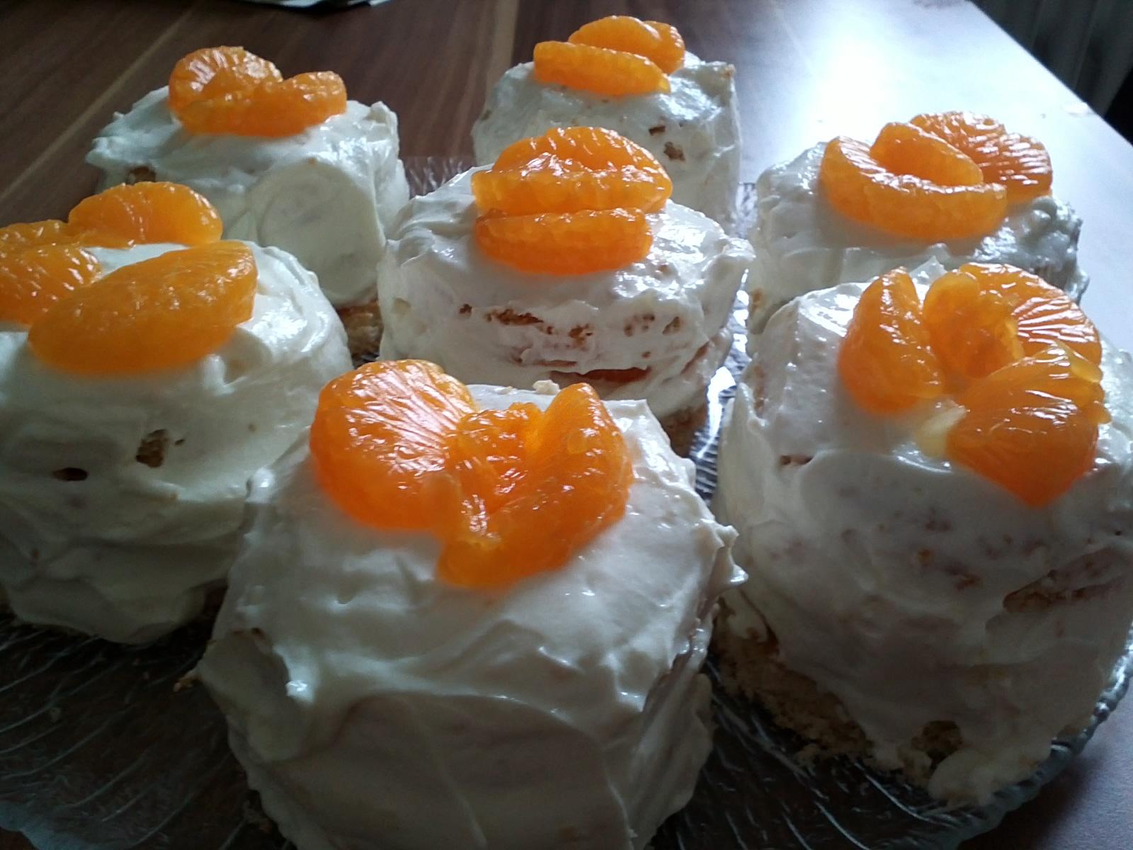 sahne quark torte mit mandarinen