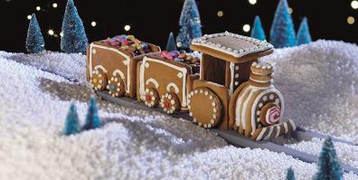 Keksausstecher Set 3D Lokomotive Zug Eisenbahn Weihnachten