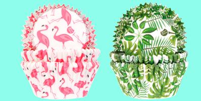 Cupcakeförmchen mit verschiedenen Prints