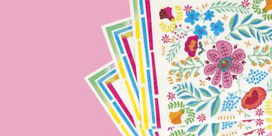 Servietten Papier Boho Floral