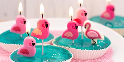 Geburtstagskerzen Flamingo