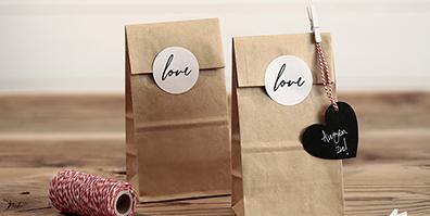Geschenktüten Love