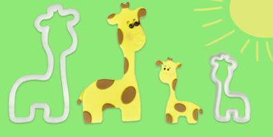 Ausstecher Giraffe