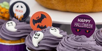 Dekoration für Halloween Cupcakes