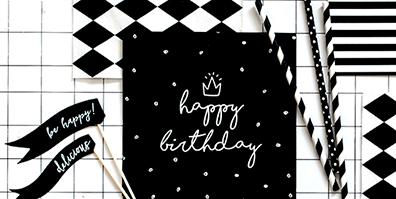 Servietten mit Happy Birthday Aufdruck