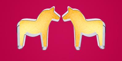 Keks Ausstecher Ausstechform Dala Pferd Skandinavien