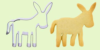 süßer Esel Ausstecher für Kekse und Fondant