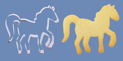 Pony Pferd Ausstecher für Kekse und Fondant