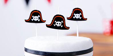 Geburtstagskerzen Pirat Piratenhut