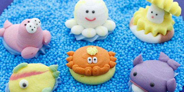 Meerestiere Zuckerfiguren