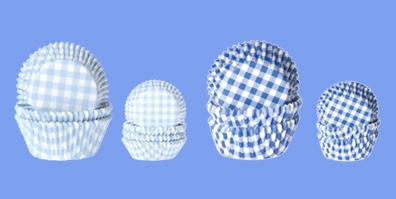 Blau Weiße Muffin Förmchen