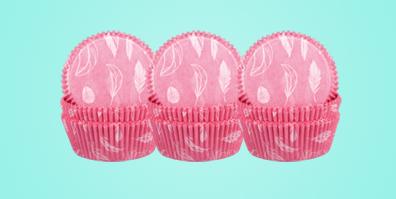 Demmler Muffinförmchen Federn rosa