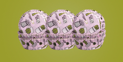 Kaktus Muffinförmchen rosa Papier