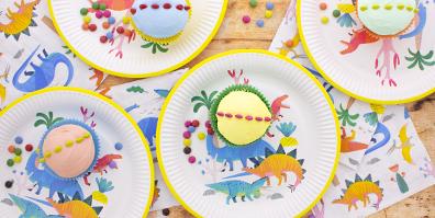 Pappteller Partygeschirr Pappe Dino Dinosaurier