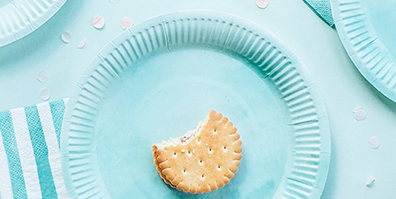 Pappteller Partygeschirr Watercolour blau Wasser
