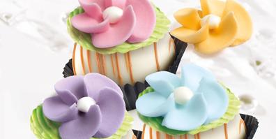 Pastellblumen aus Zucker BackDecor