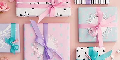 Geschenkbänder Ripsbänder verschiedene Farben