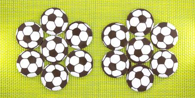Fußball Schokoladen Aufleger