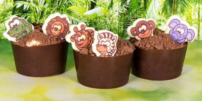 Dschungel Tiere weiße Schokolade