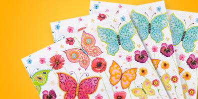 Papier Servietten Schmetterlinge