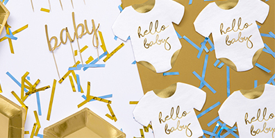 Papier Servietten Babystrampler