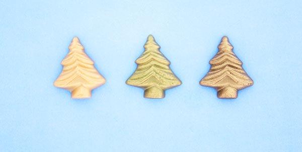 Tannenbäume aus Marzipan