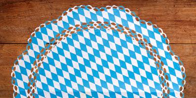 Bayrische Raute Tortenspitze Oktoberfest