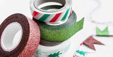 Washitapes in weihnachtlichen Motiven