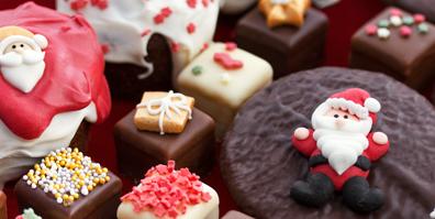 Weihnachtsdekoration aus Zucker