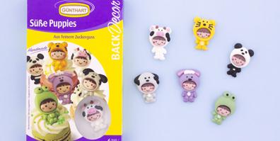 Süße Puppies Zuckerfiguren Baby
