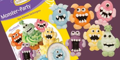 Monster Party Zuckerfiguren