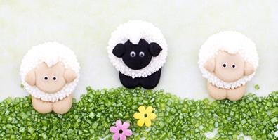 Zuckerfiguren Tortendeko Schäfchen Süße Schafe