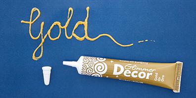 Zucker Schrift Gold Glimmer