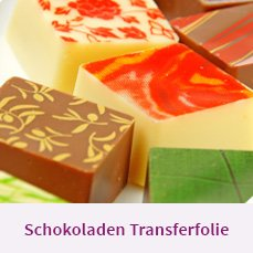 Schokoladen Transferfolie