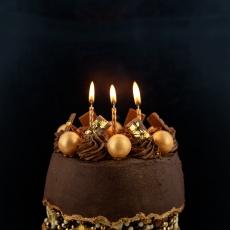 126 4 Gold Kerzen Culpitt Culpitt 10 Geburtstagskerzen, gold