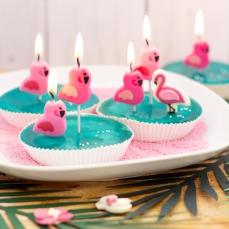 126 6 Flamingo Kuchenkerzen Kerzen Pink Culpitt Ltd. Culpitt 6 Flamingo Kerzen