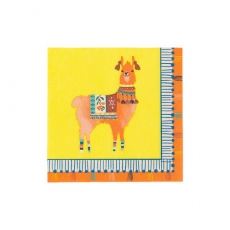 260 3Sale Talking Tables Frühling / Sommer 20 Servietten, Boho/ Lama, gelb- orange