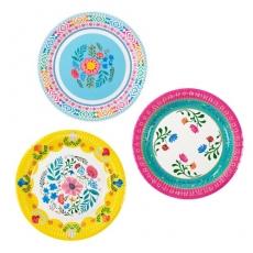 260 4Sale Talking Tables Frühling / Sommer 12 Pappteller, im floralen Boho Look
