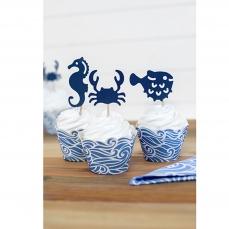509 2 A Cupcake Topper Maritim Ahoy partydeco Partydeco.pl 1 Maritimes Cupcake Topper Set Ahoi