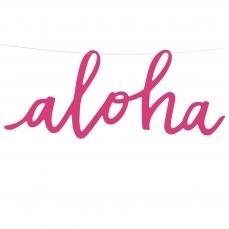 511 2 A Aloha Banner Pink Papier Hawaii partydeco Partydeco.pl 1 Aloha Banner zum Aufhängen