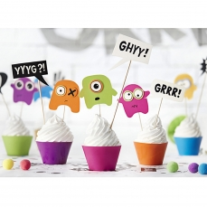 514 2 A DIY Monster Cupcakes Set partydeco Backwelt Monster Cupcake Set Monster - für 6 Cupcakes