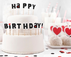 517 16 A Happy Birthday Cake Topper partydeco Geburtstag Cupcake Topper Happy Birthday