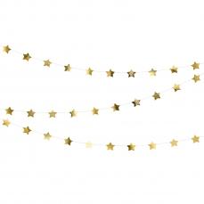 531 9 Sterngirlande Gold Partydeco Partydeco.pl Sterngirlande Gold, 3.6 Meter