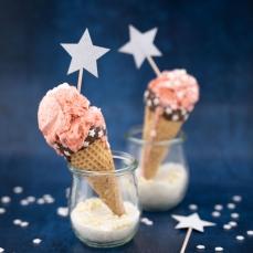 532 4 A Sternchen Cupcake Einstecker partydeco Cake Topper 6 Cupcake Einstecker Sterne, silberglitter