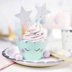 532 5 partydeco Muffinförmchen 6 Cupcake Wrapper - Einhorn Serie