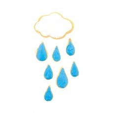669 94 Keks Ausstecher Regen Tropfen Drops Cuttersweet Cuttersweet 1 Keksausstecher Set Tropfen / Drops