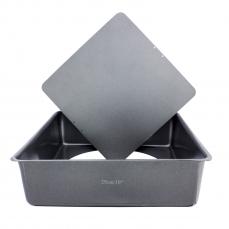 865 1 A KitchenCraft KitchenCraft 1 quadratische Backform 25 cm aus Karbonstahl mit herausnehmbaren Boden