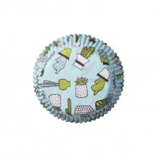 DEM 209 A Muffinfoermchen Kaktus Mintgruen Demmler Muffinförmchen 60 Muffinförmchen mintgrün, Kaktus, 5 x 2,5cm