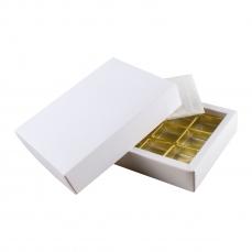 PRA 102 IDEE & WERK Geschenktüten & Verpackungen Pralinenschachtel 12er weiß strukturiert