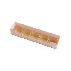 PRA 306 IDEE & WERK Geschenktüten & Verpackungen Pralinenstange 5er rosa strukturiert